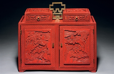 A WELL-CARVED CINNABAR LACQUER