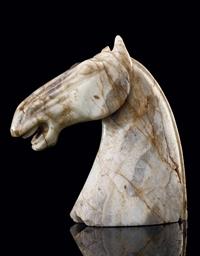 A HAN-STYLE JADE HORSE'S HEAD