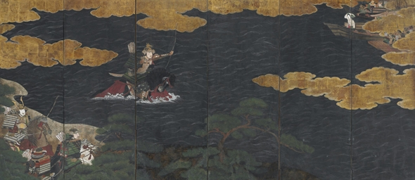 Nasu no Yoichi, scene from Tal