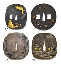A Mokko-shaped Tsuba