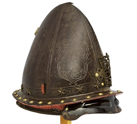 AN ITALIAN HELMET BOWL ADAPTED