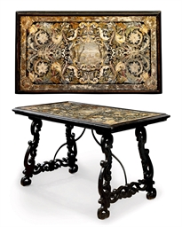 AN ITALIAN SCAGLIOLA TABLE TOP