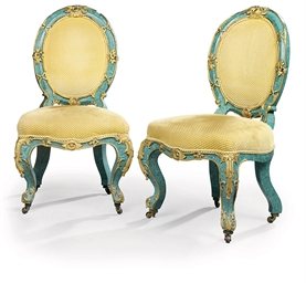 A PAIR OF SPANISH ORMOLU-MOUNT