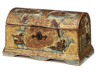 A SPANISH PARCEL-GILT AND POLY