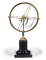 A FRENCH BRASS PLANETARIUM