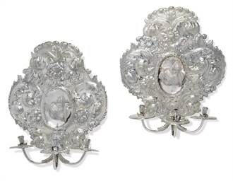 A PAIR OF SPANISH SILVER THREE