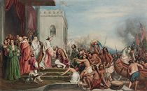 The reception of Christopher Columbus by King Ferdinand II and Queen Isabella of Spain in Barcelona