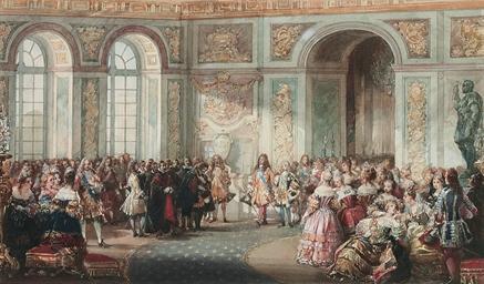 Louis XIV presenting the Duc d