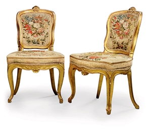 A PAIR OF SPANISH GILTWOOD SID