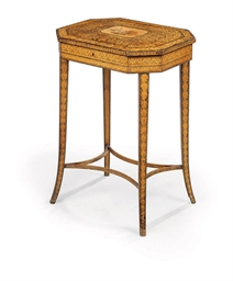 A REGENCY PENWORK WORK-TABLE