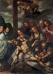 The Lamentation with donors