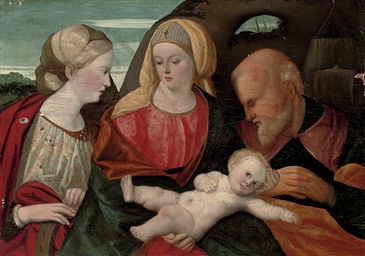 The Holy Family with Saint Cat