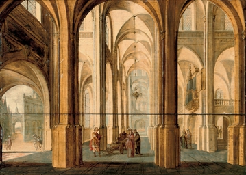 A church interior with Alexand