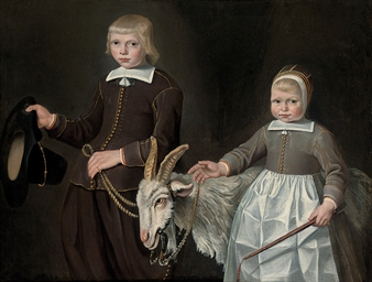 Double portrait of children, t