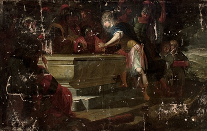 Alexander sealing the tomb of