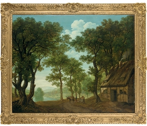 A wooded river landscape, thou