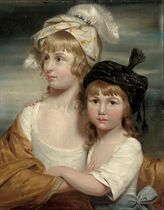 Portrait of the Misses Rigby: Sarah and Mary Emma Rigby, daughters of Dr. Edward Rigby of Norwich (1747-1821), half-length, in white dresses and oriental turbans