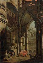 An architectural capriccio with Daniel in the lions' den