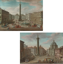 A view of the Piazza Colonna,