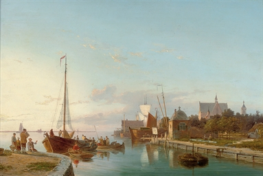 Unloading at a Dutch quay