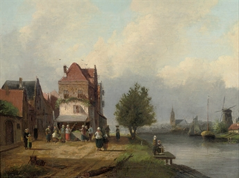 A market on a Dutch canal