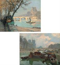 Pont Royal à Paris; and Pont St Michel
