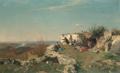 A picnic on the hill