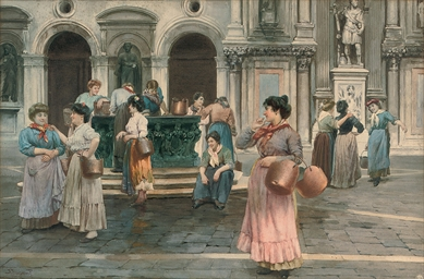 Gossips at the well, Venice