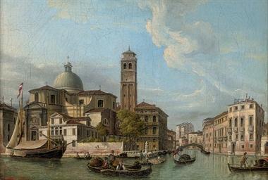 Trading vessels on a Venetian