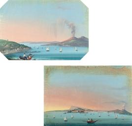Fisherfolk before Vesuvius; an