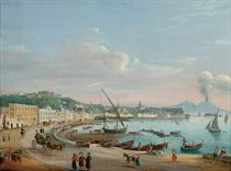 On the promenade on the Bay of Naples