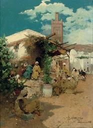 An Oriental street in Tlemcen,