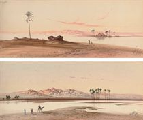 Arabs on the Nile at Aswan; and Arabs on the Nile at dusk