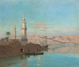 The Nile at Girgeh, dusk