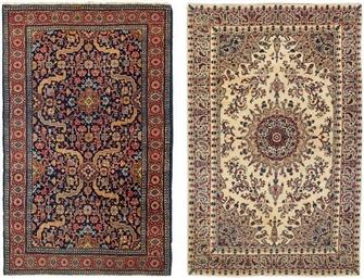 A very fine Kirman rug & Tabri