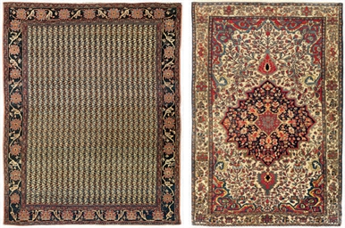 An antique Feraghan rug & Saro