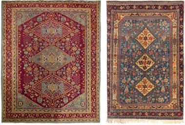 An antique Amritzar rug & unus
