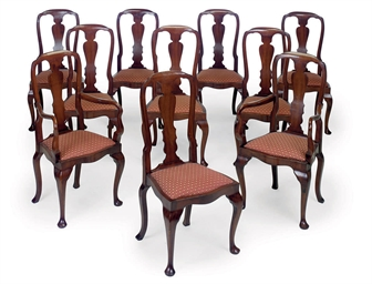 A SET OF TEN STAINED-BEECH DIN
