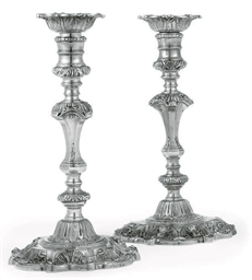A PAIR OF MODERN SILVER REPROD