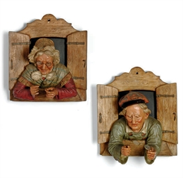 A PAIR OF AUSTRIAN TERRACOTTA