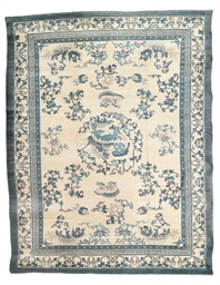An antique Peking carpet