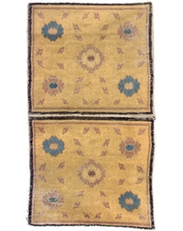 A pair of antique Ningxia mats