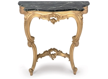 A FRENCH GILTWOOD CONSOLE TABL