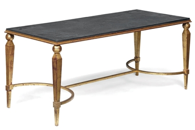 A FRENCH GILTMETAL LOW-TABLE