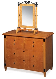 A NORTH EUROPEAN BIRCH COMMODE