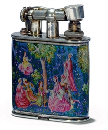 AN AUSTRIAN SILVER AND ENAMEL