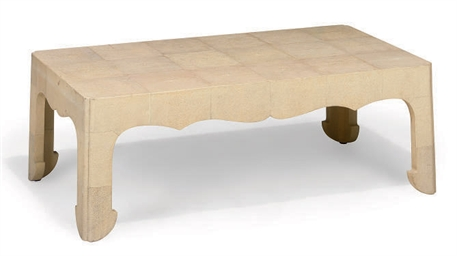 A SHAGREEN LOW TABLE