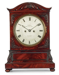 A WILLIAM IV MAHOGANY STRIKING