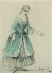 Study of Jenny Lind (1820-1887