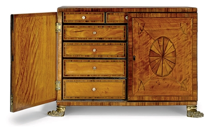 A GEORGE III SATINWOOD AND KIN